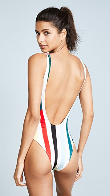 Solid & Striped The Michelle Split Stripe One Piece Swimsuit