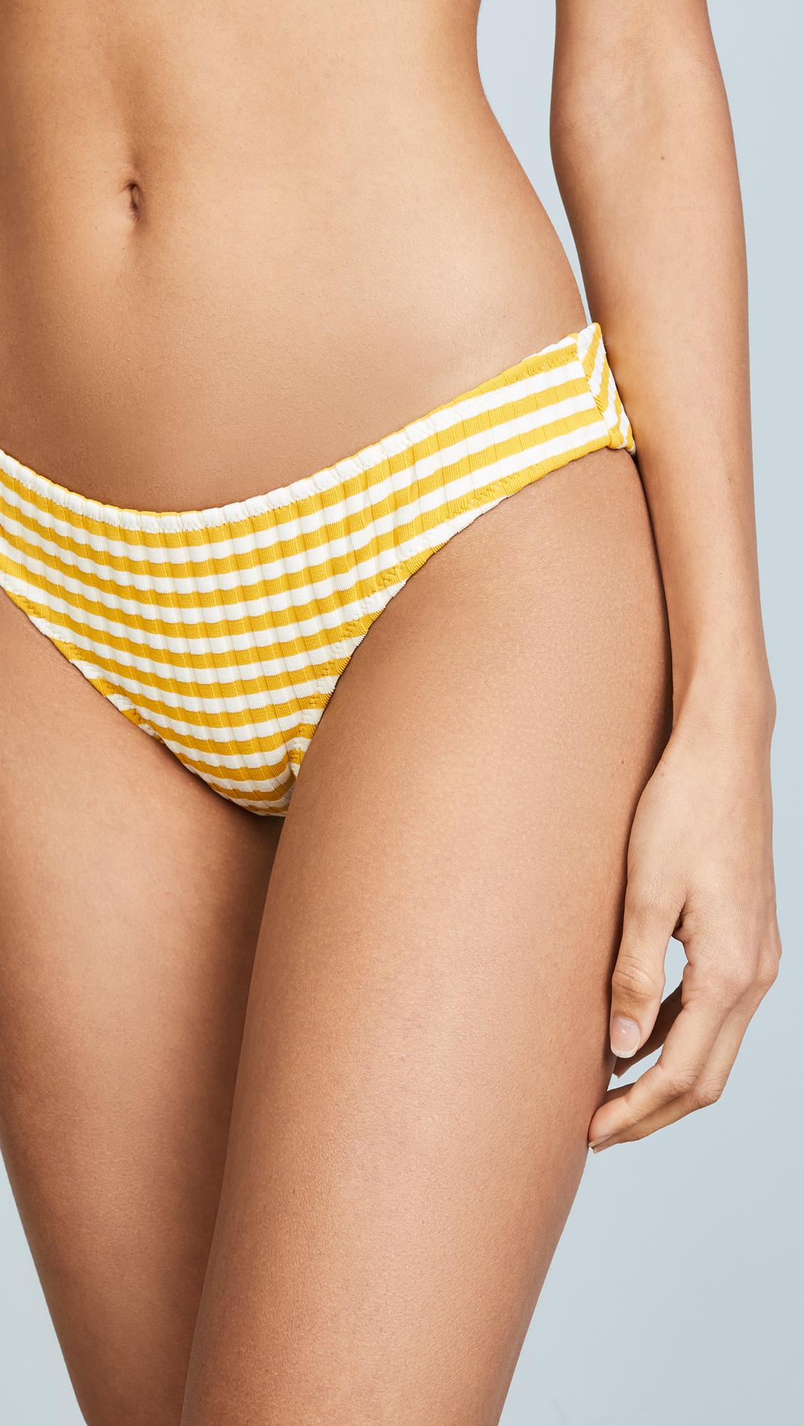 ac703287b7fa Solid   Striped The Elle Stripe Rib Bikini Bottoms