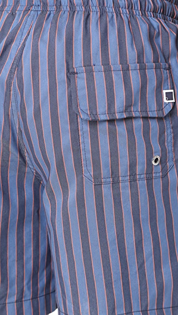 Solid & Striped The Classic Amalfi Stripe Trunks