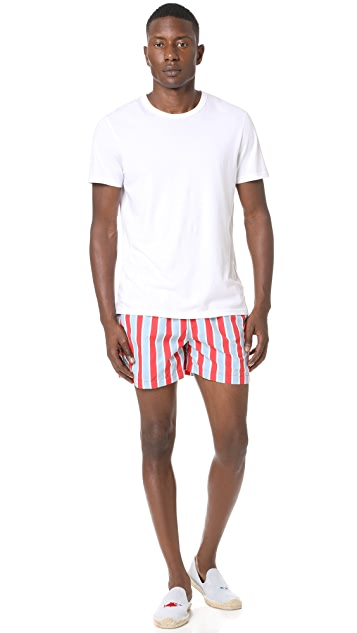 Solid & Striped The Classic Monaco Stripe Trunks