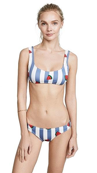 Solid & Striped Elle Bikini Top In Watermelons