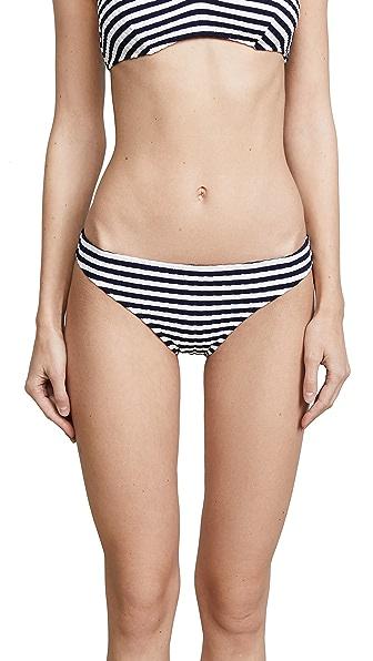Solid & Striped Rachel Bottoms In Navy Cream Rib