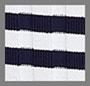 Navy Cream Rib