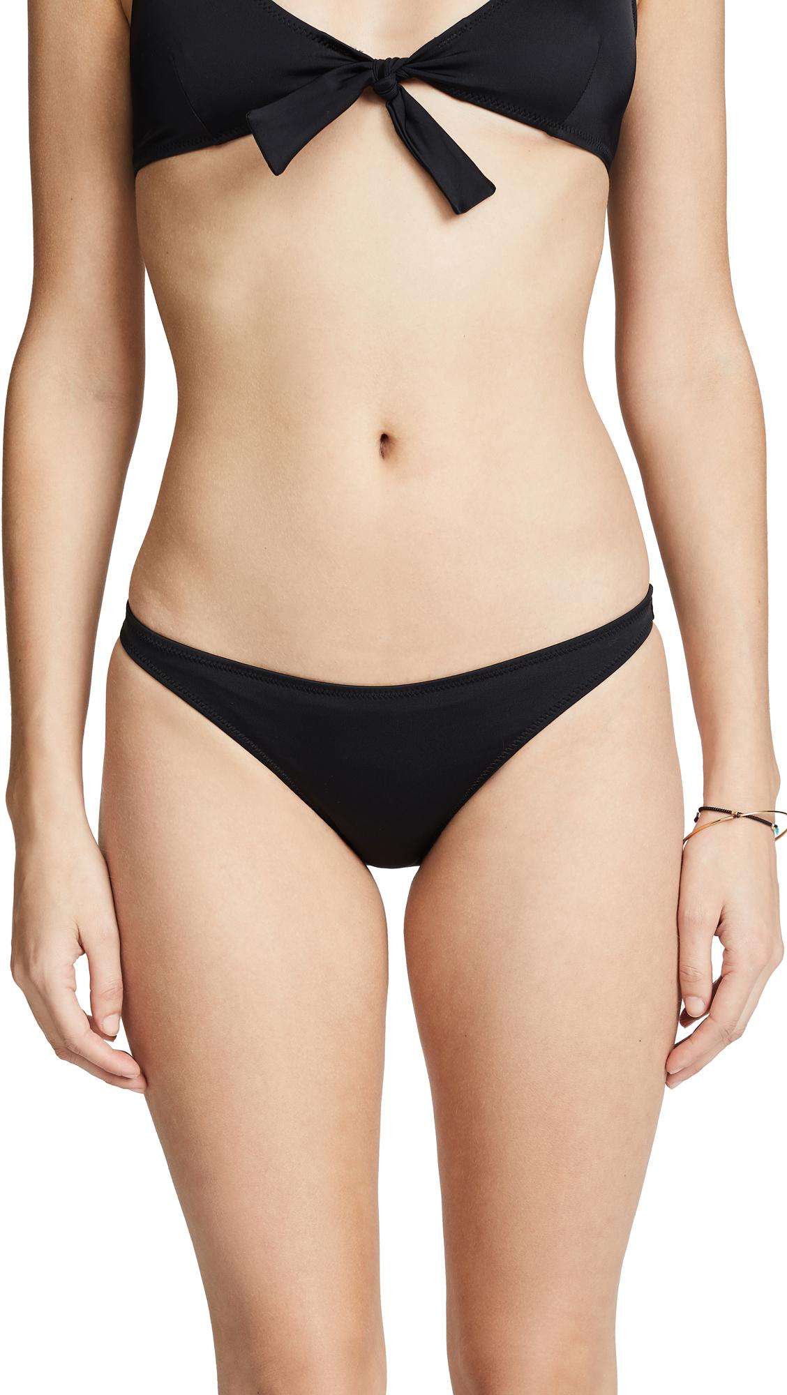 Solid & Striped Fiona Bikini Bottoms In Black
