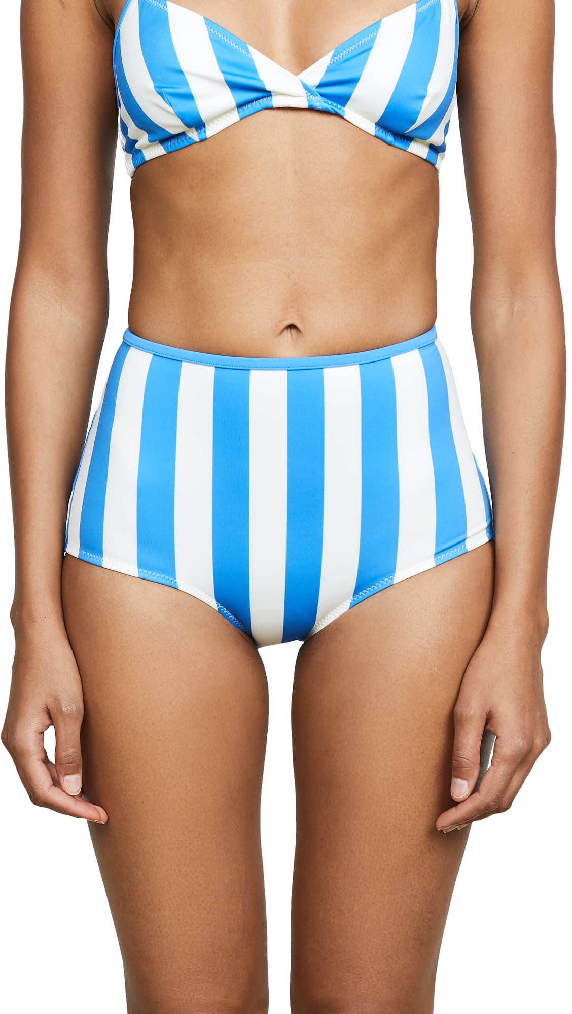 Solid & Striped Brigette Bikini Bottoms In Sea Stripe