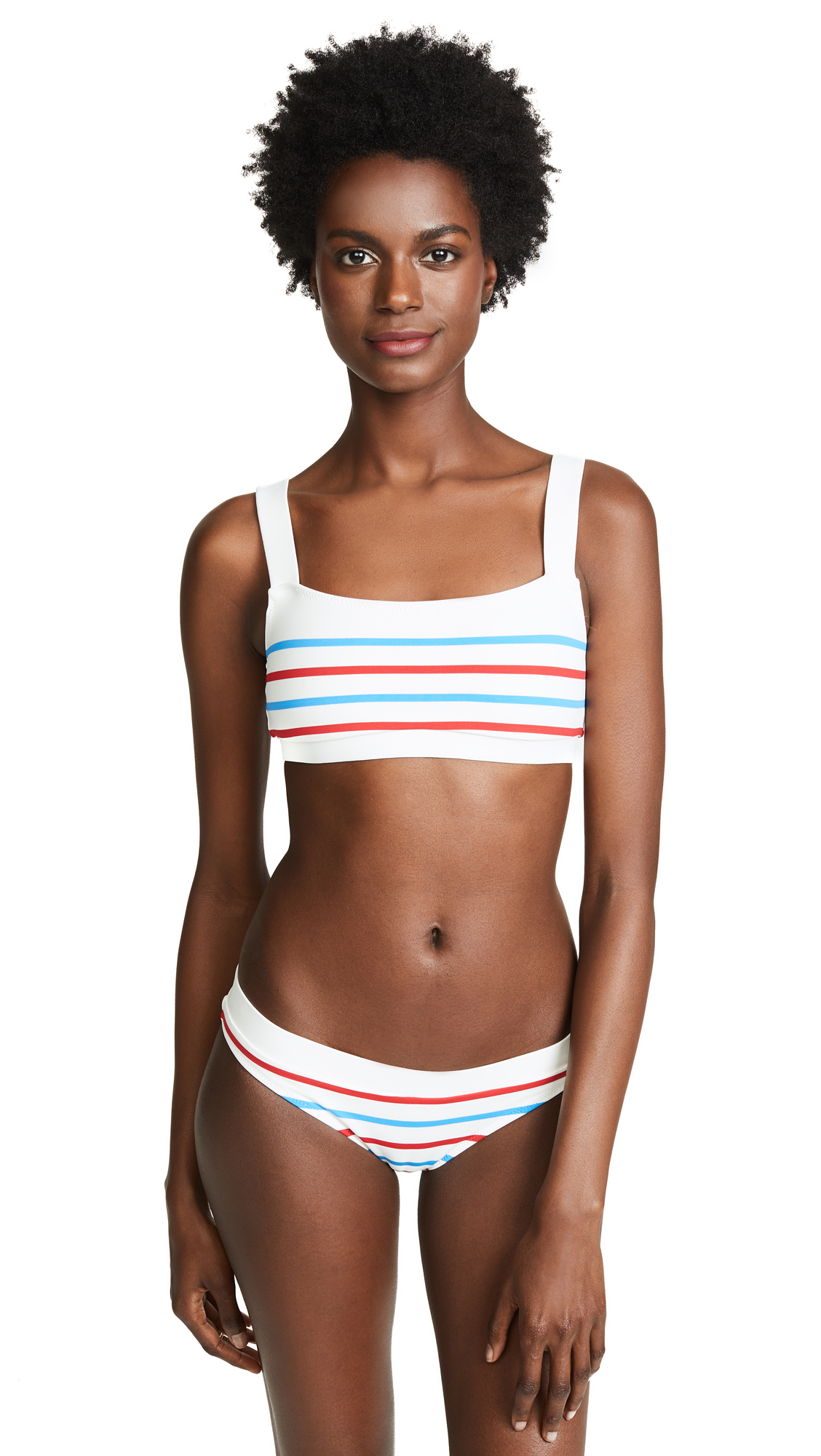 Solid & Striped Madison Bikini Top In American Breton