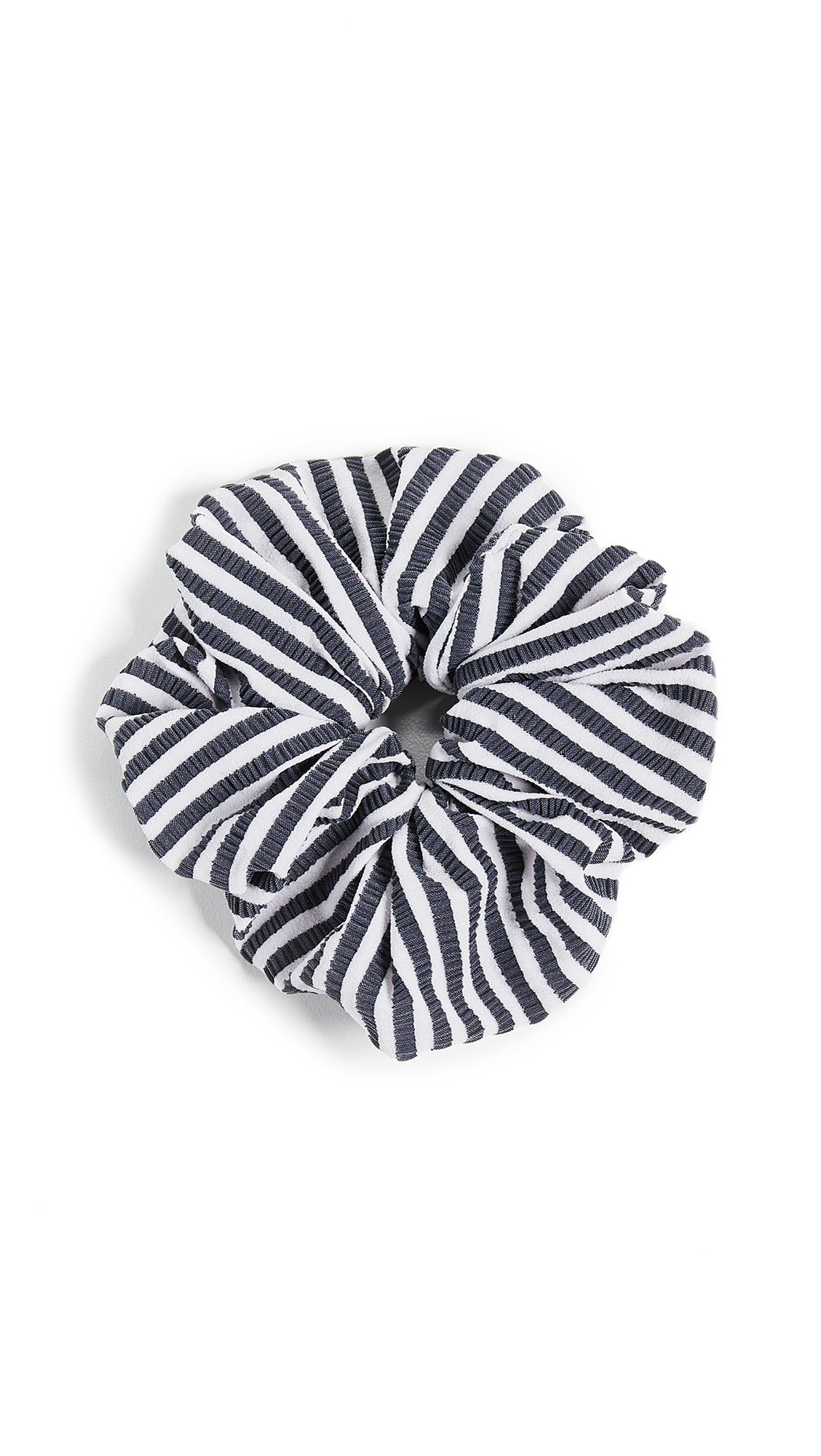 Solid & Striped The Seersucker Scrunchie In Navy