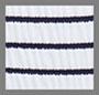 синий/белый в крепированную полоску