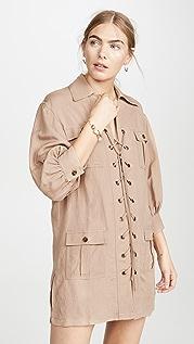 Solid & Striped Linen Safari Dress