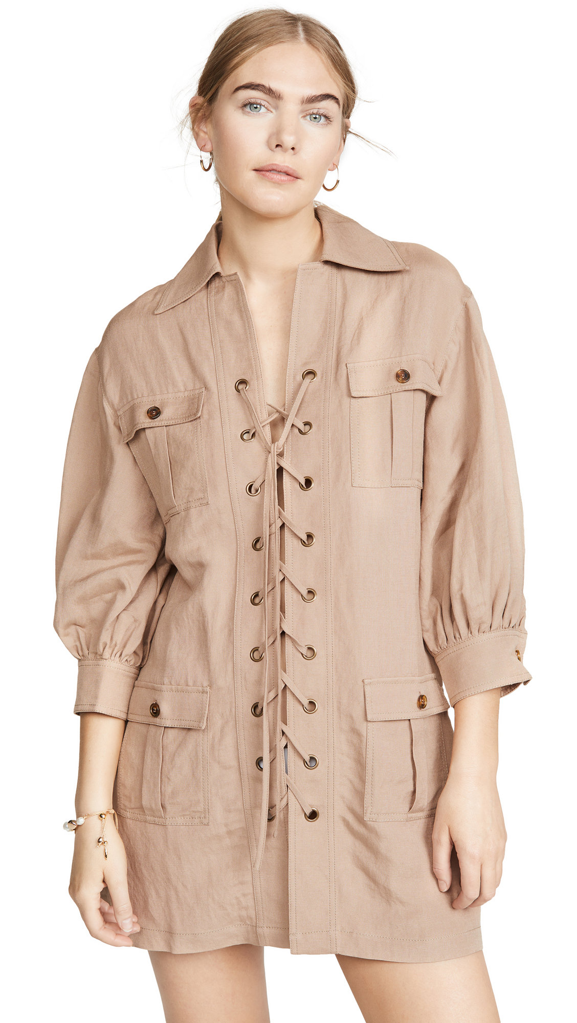 Buy Solid & Striped online - photo of Solid & Striped Linen Safari Dress