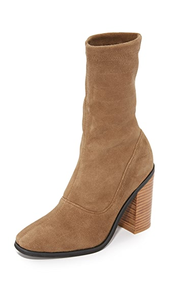 Sol Sana Chloe Stretch Booties - Cognac