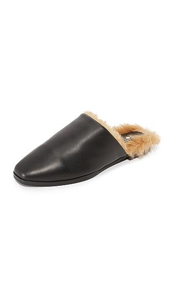 Sol Sana Kim Faux Fur Slides