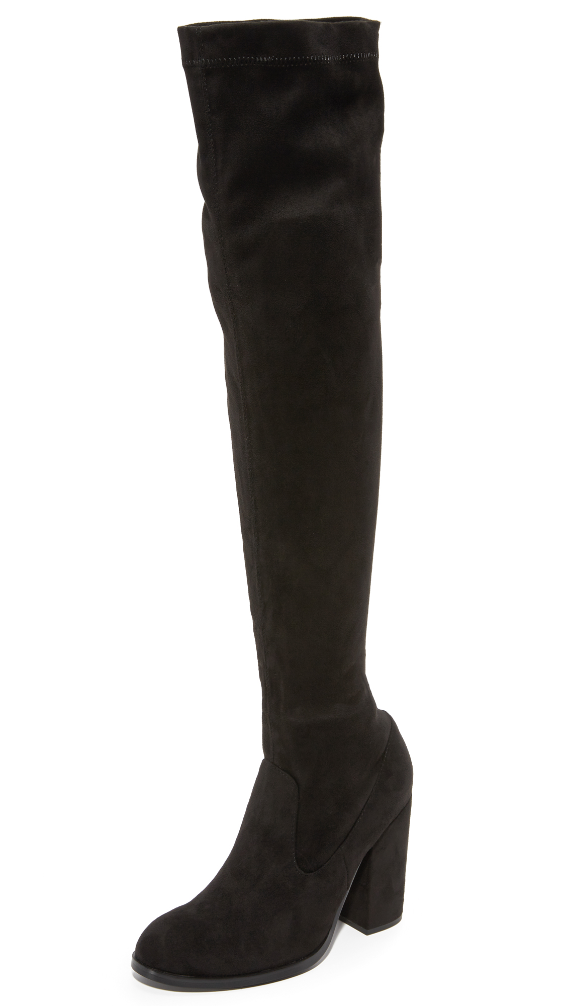 Sol Sana Bella Stretch Over The Knee Boots - Black
