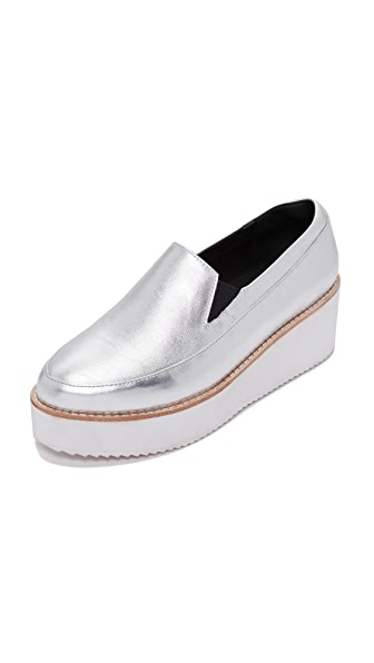 Sol Sana Tabbie Loafers - Silver