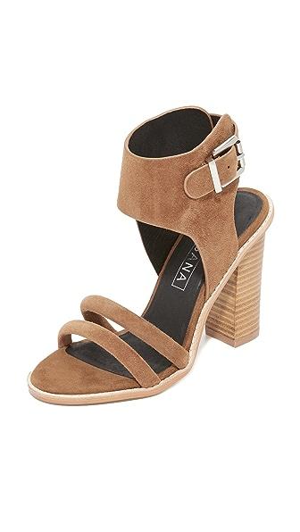 Sol Sana Tiki Heel Sandals - Light Tan