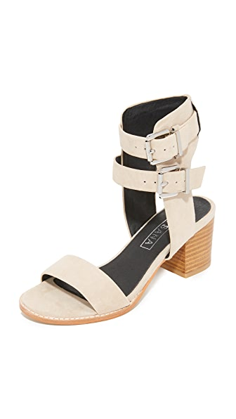 Sol Sana Porter Heel City Sandals - Ecru