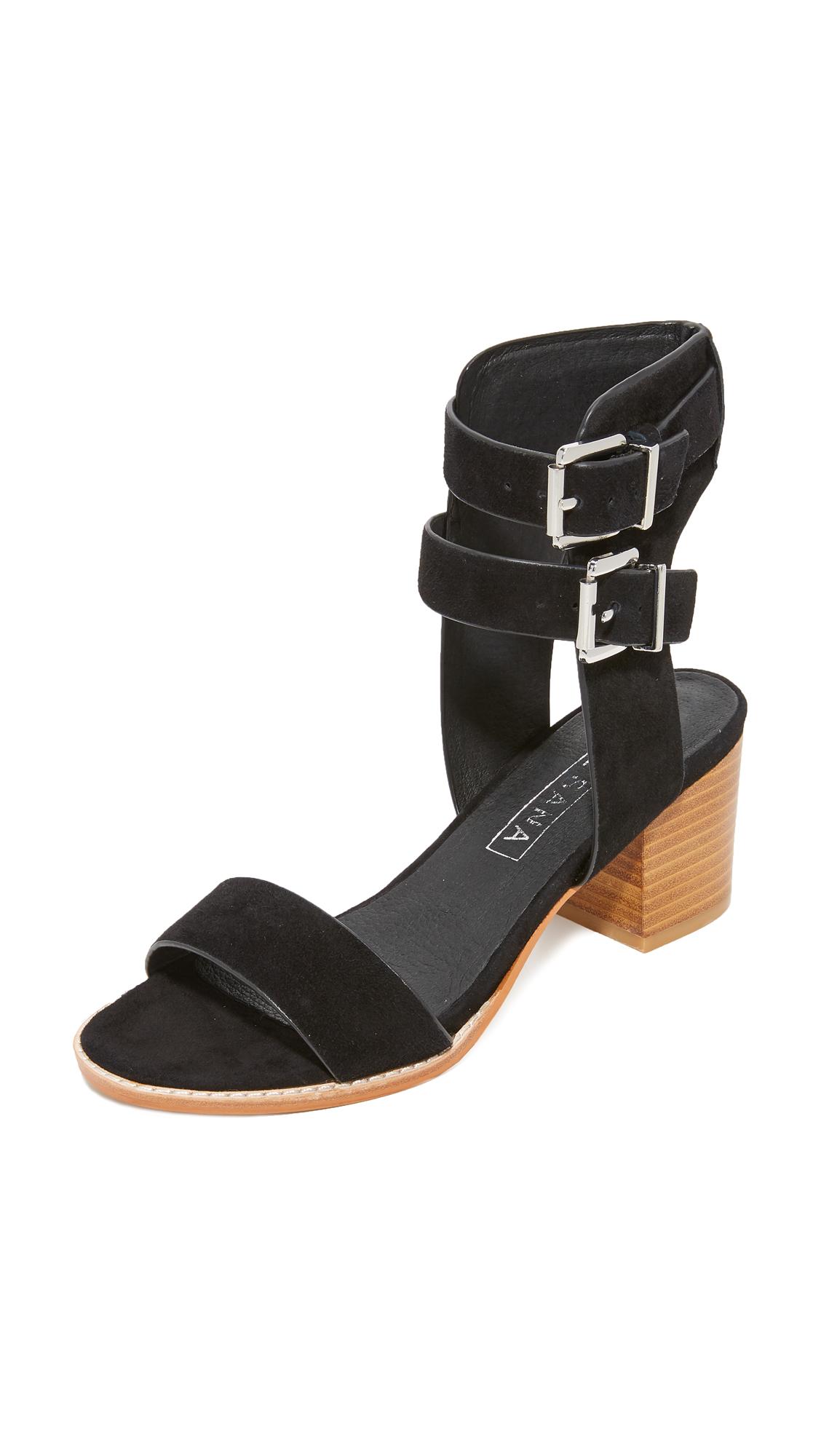 Sol Sana Porter Heel City Sandals - Black