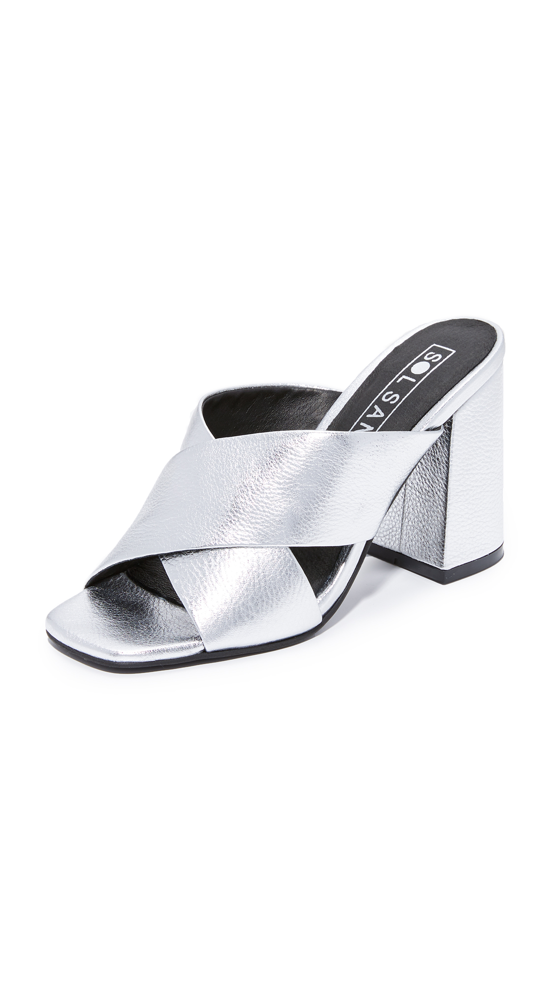 Sol Sana Ginny Mules - Silver