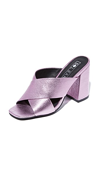 Sol Sana Ginny Mules - Metallic Pink