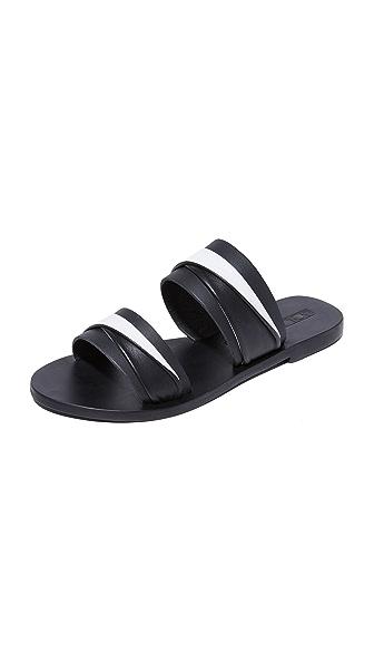 Sol Sana Double Twisted Slides - Black/Ivory