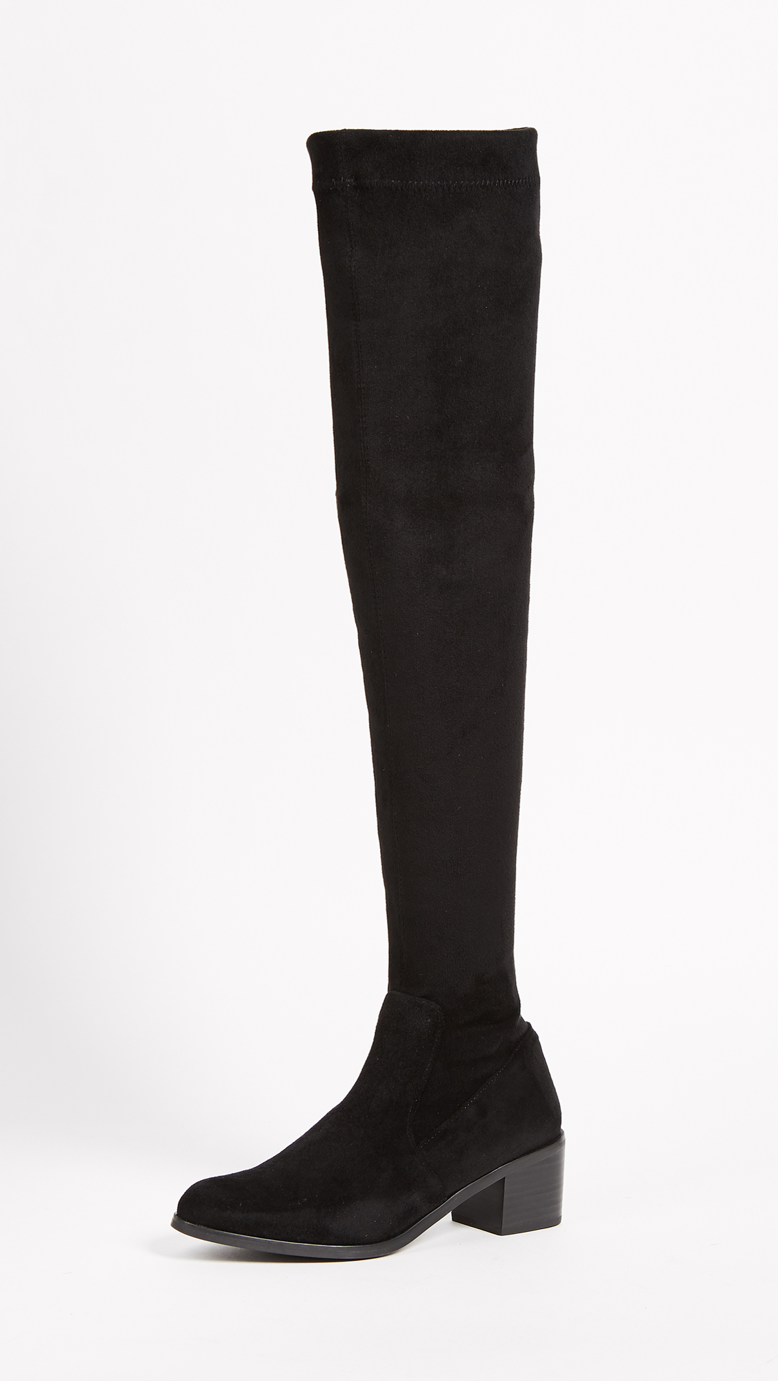 Sol Sana Bianca Over the Knee Boots - Black