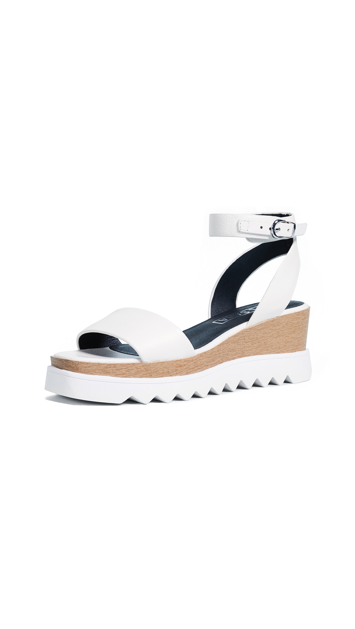 Sol Sana Tray Wedge Sandals - White