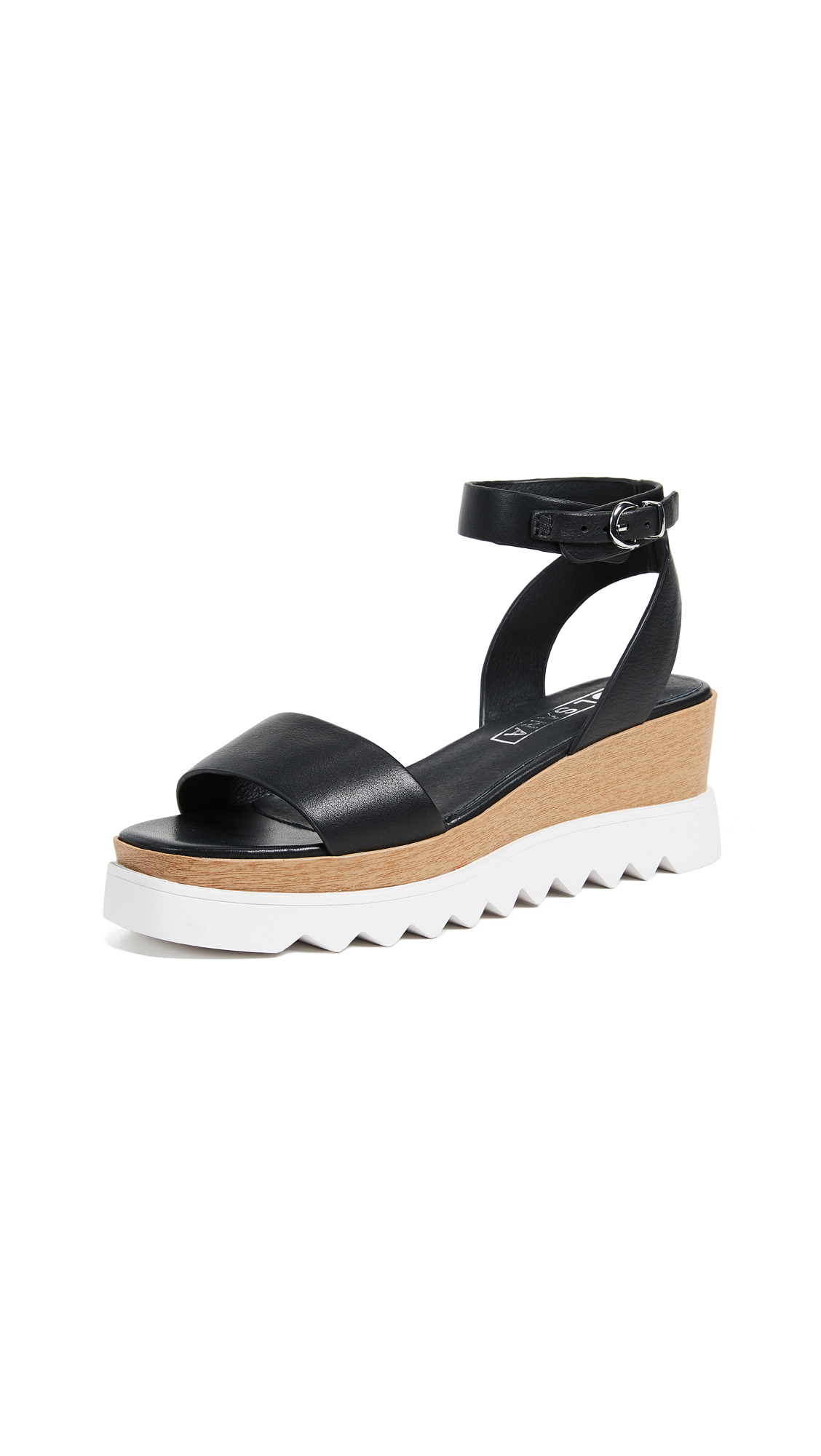 Sol Sana Tray Wedge Sandals - Black