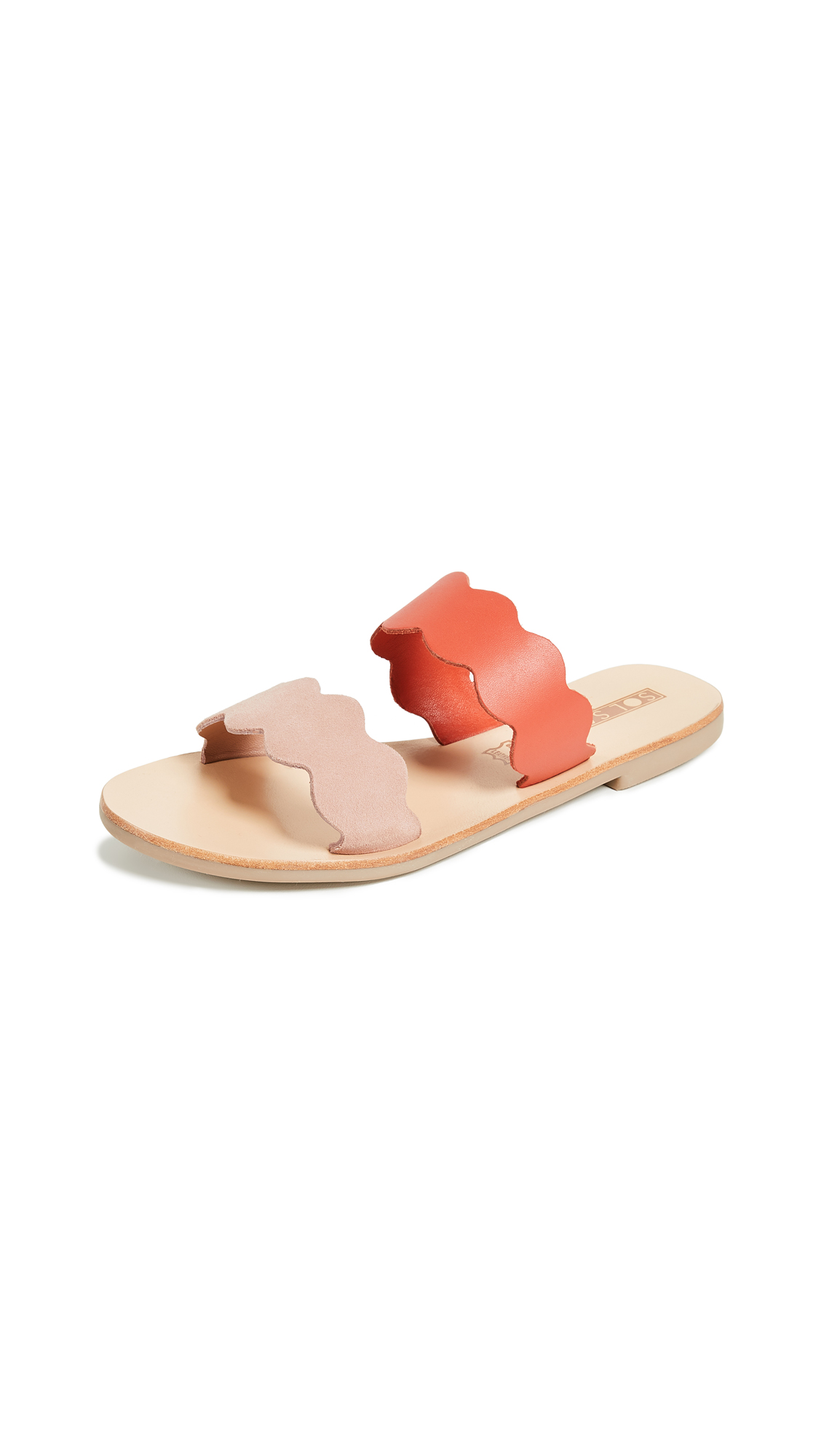Sol Sana Wave Slide Sandals - Pink/Flame