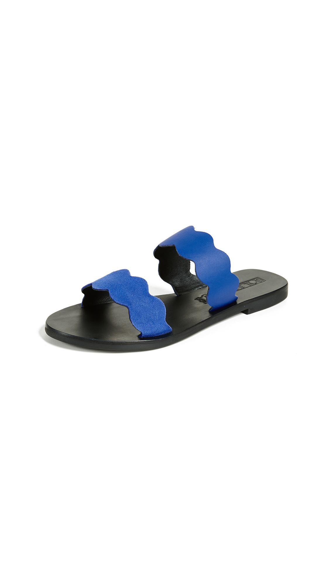 Sol Sana Wave Slide Sandals - Cobalt