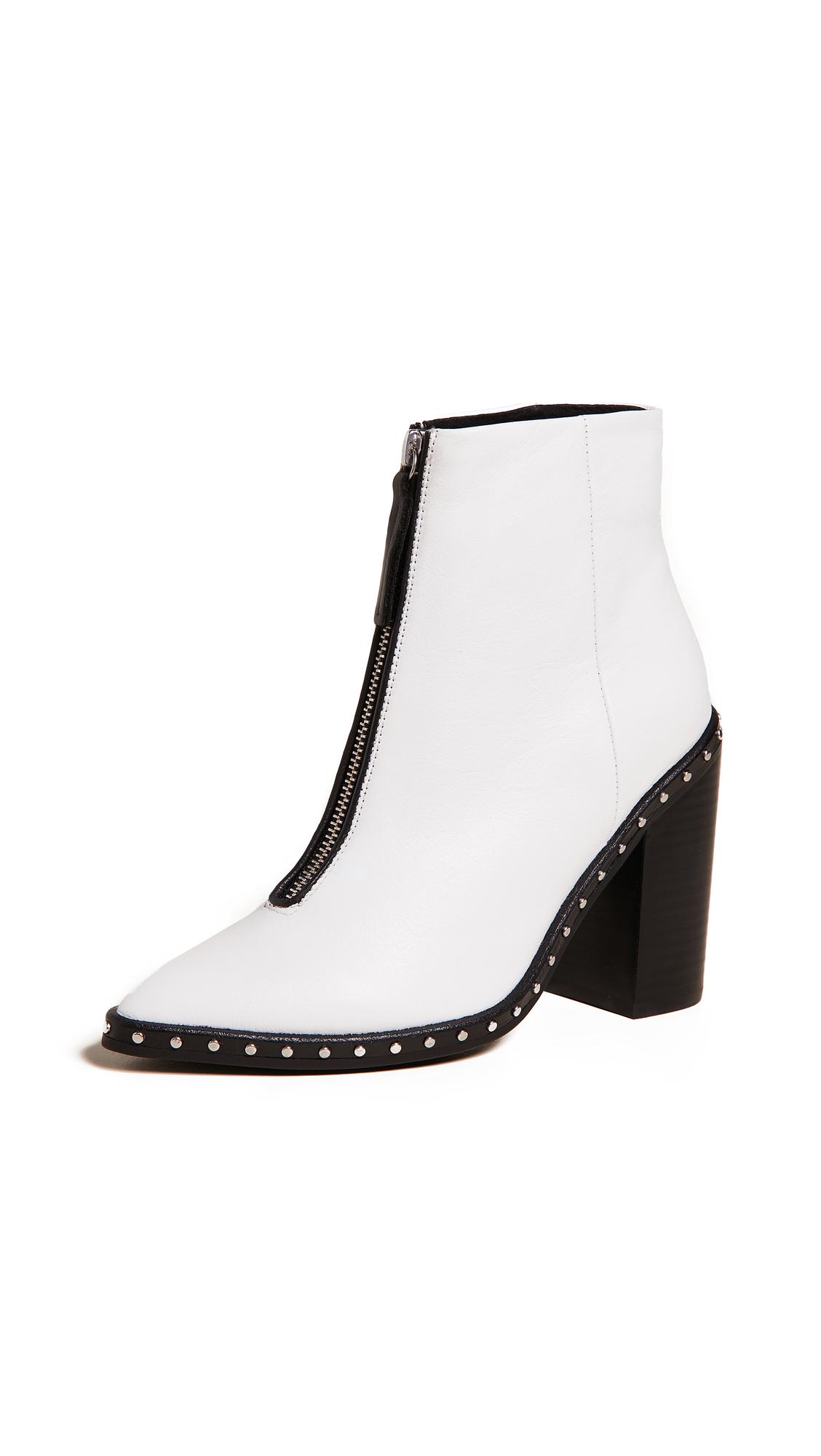 Sol Sana Axel Block Heel Boots - White