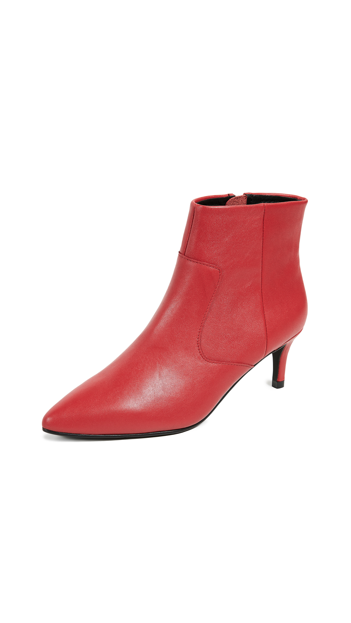 Sol Sana Odin Kitten Heel Booties - Red