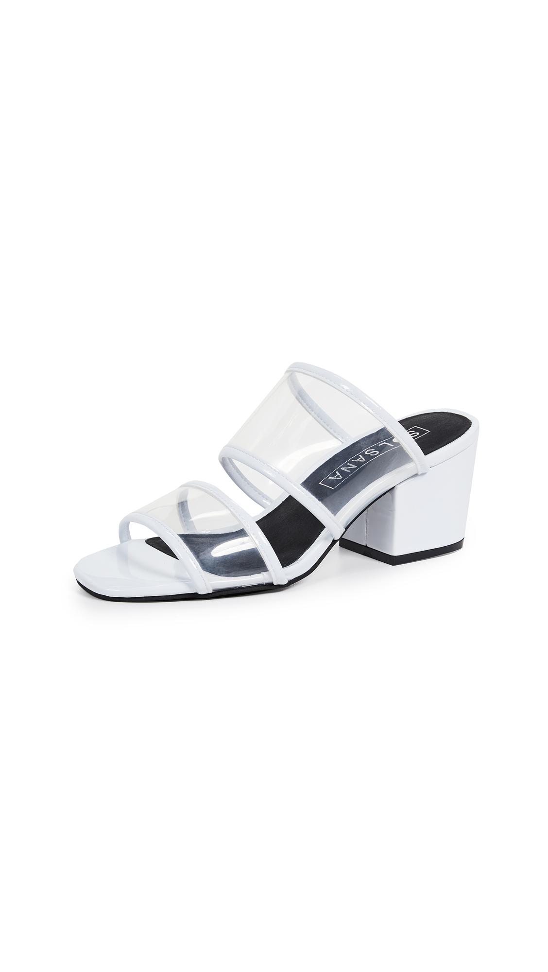 Sol Sana Ziggy Mule Sandals - Patent White