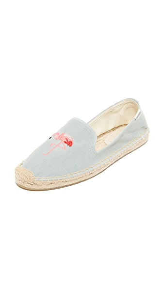 Soludos Flamingo Smoking Slipper Espadrilles at Shopbop