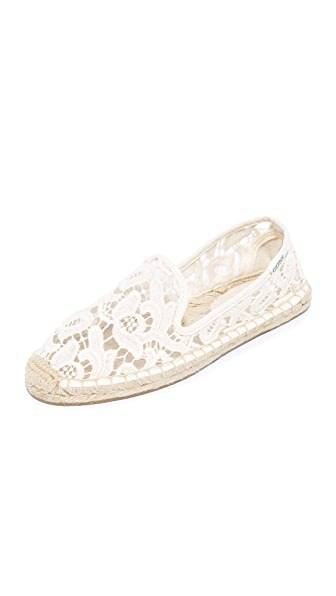 Soludos Tulip Lace Smoking Slipper Espadrilles at Shopbop
