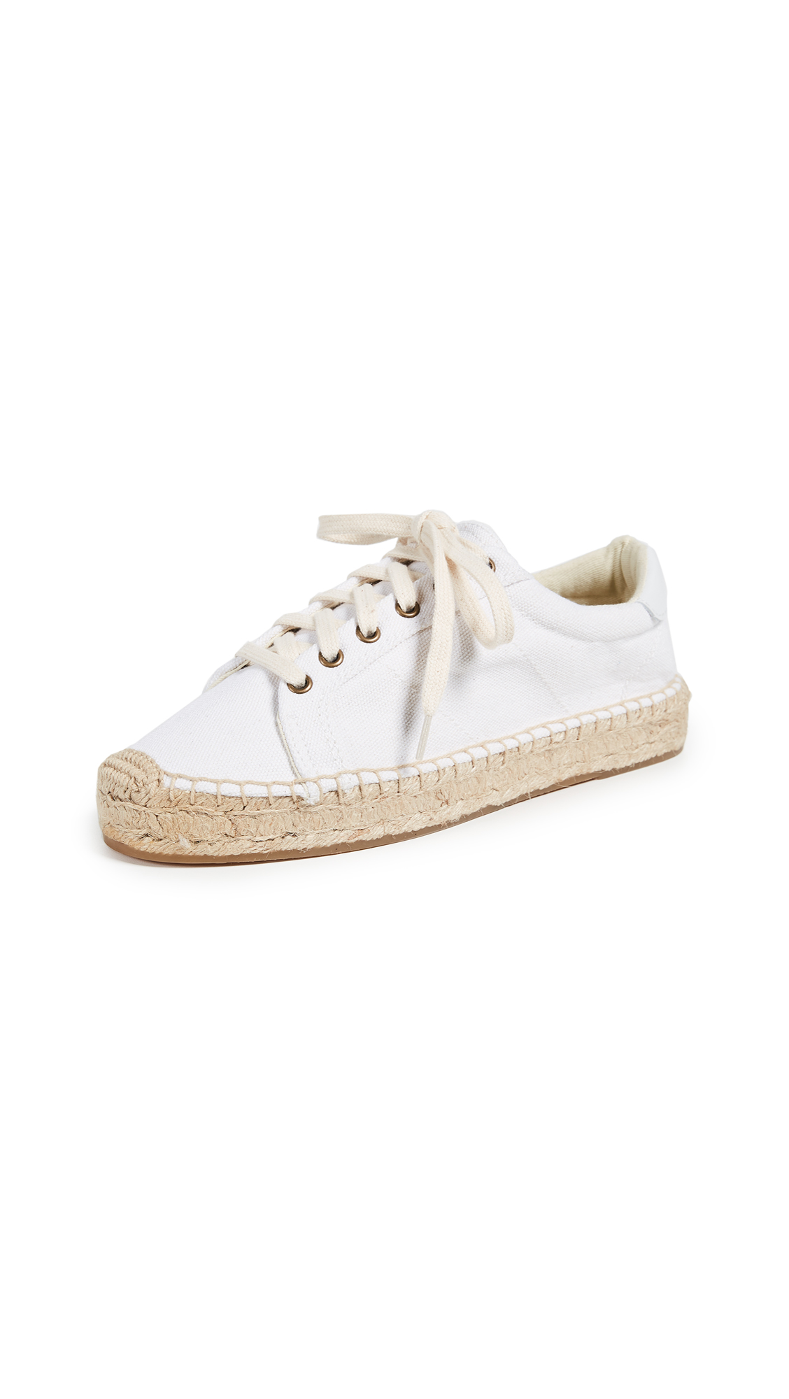 Soludos Platform Tennis Sneakers - Bright White