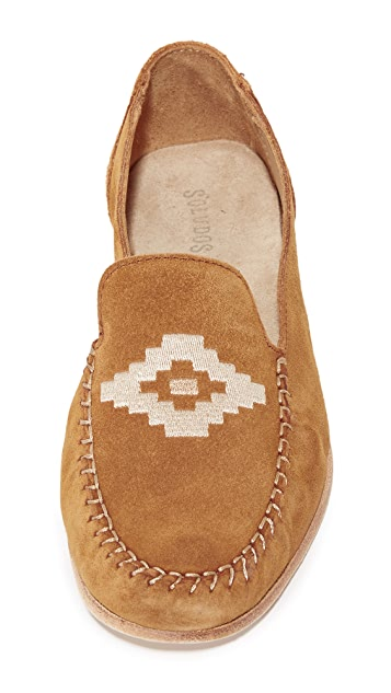 Soludos Embroidered Smoking Loafers