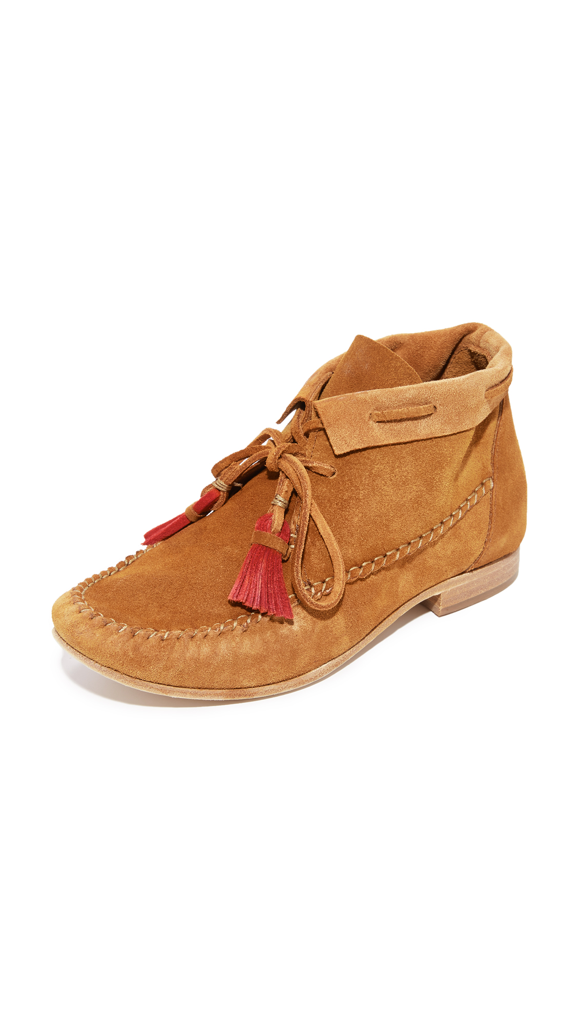 Soludos Moccasin Booties - Saddle