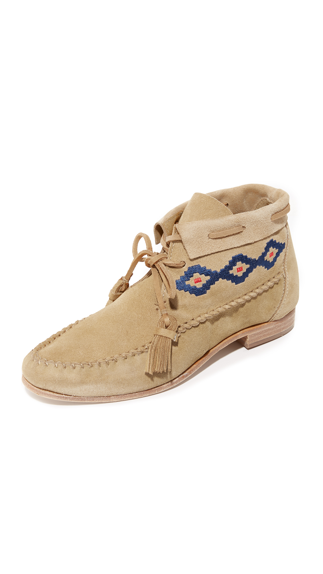Soludos Moccasin Booties - Stone
