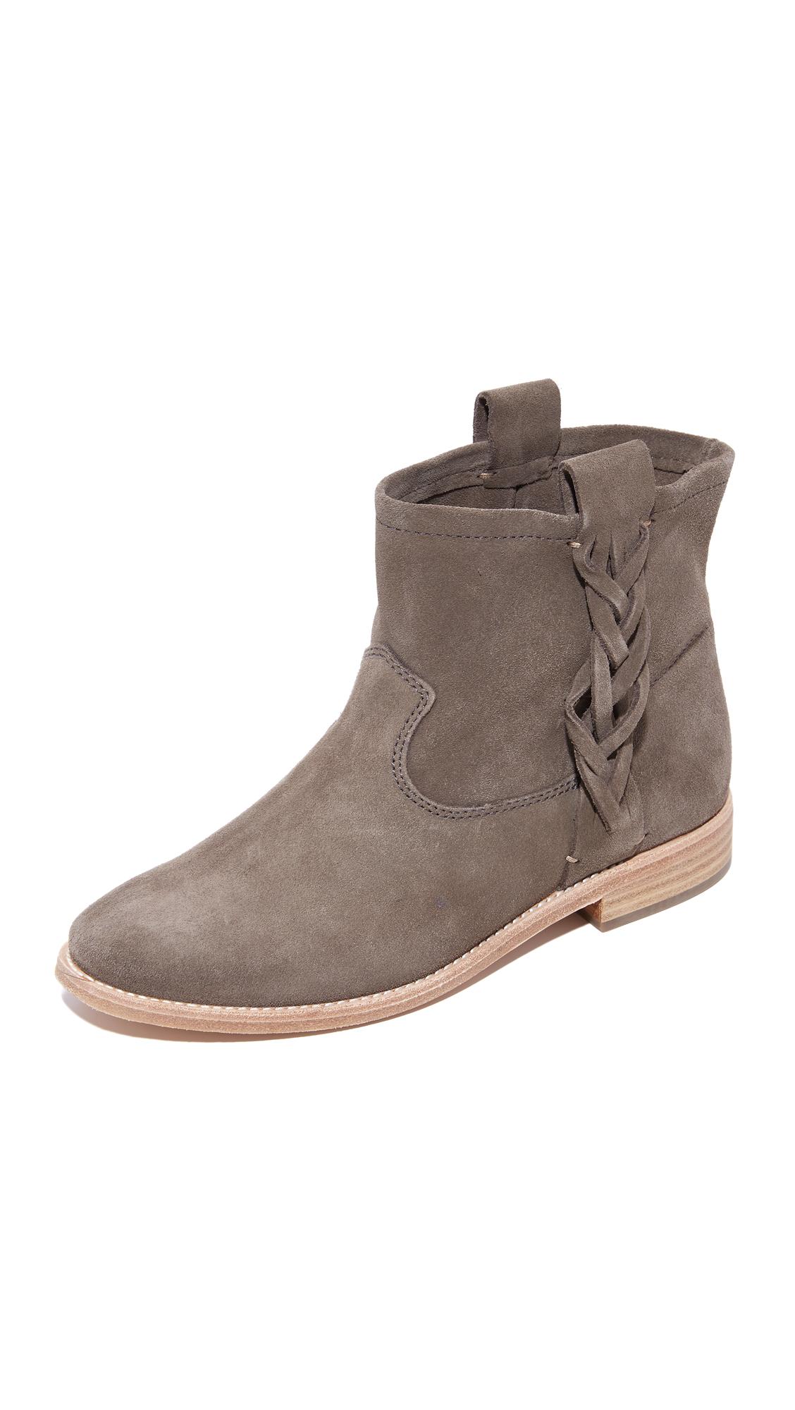 Soludos Flat Booties - Gray