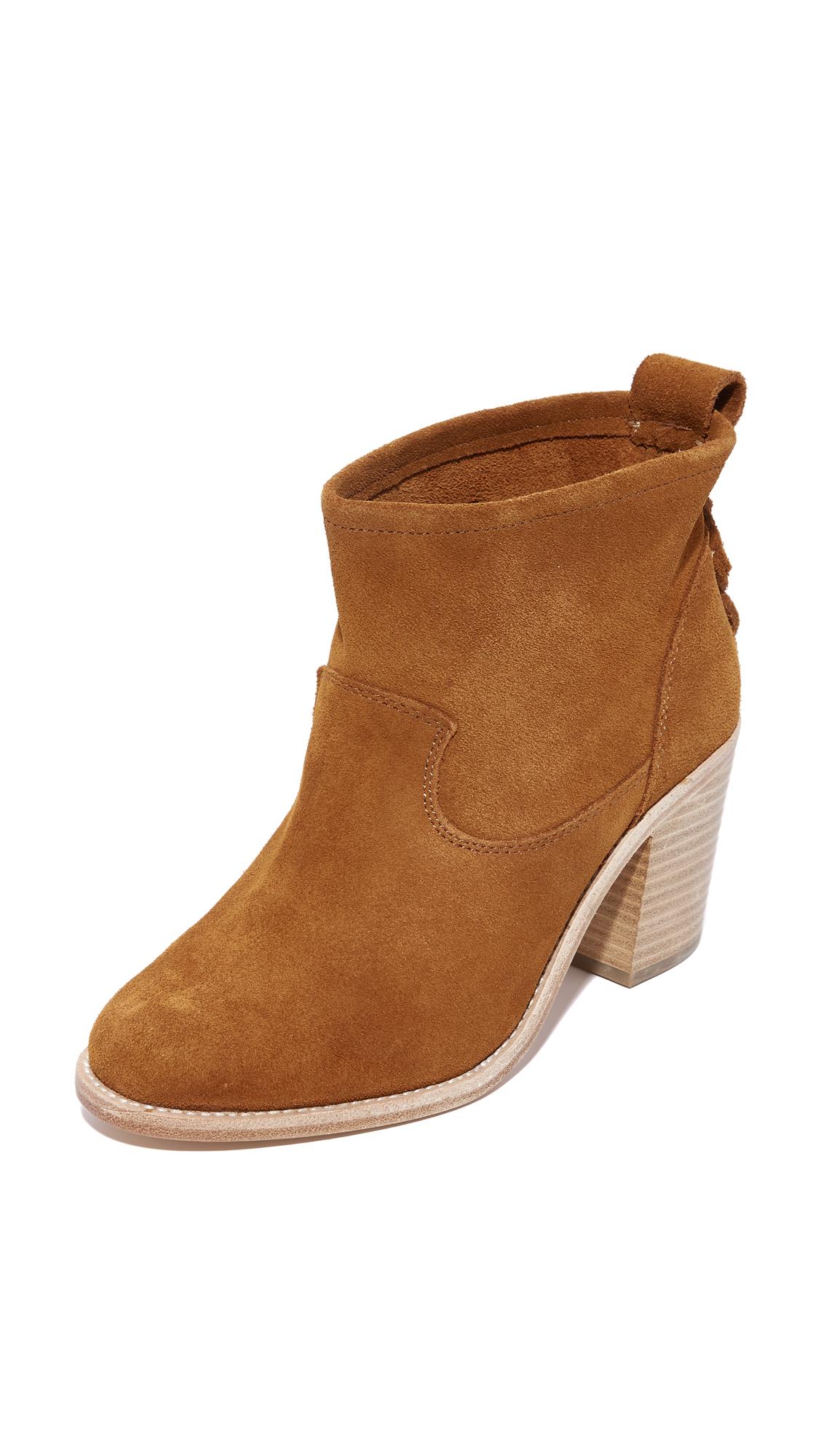 Soludos Heeled Booties - Saddle