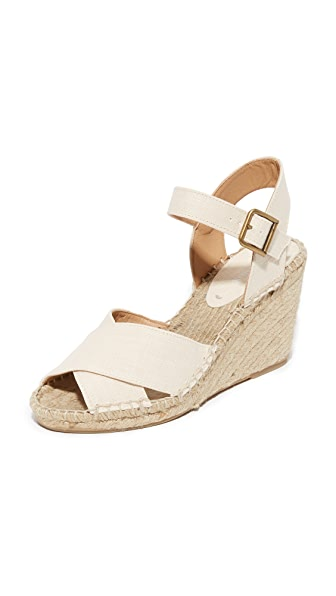 Soludos Crisscross Wedge Espadrilles - Blush