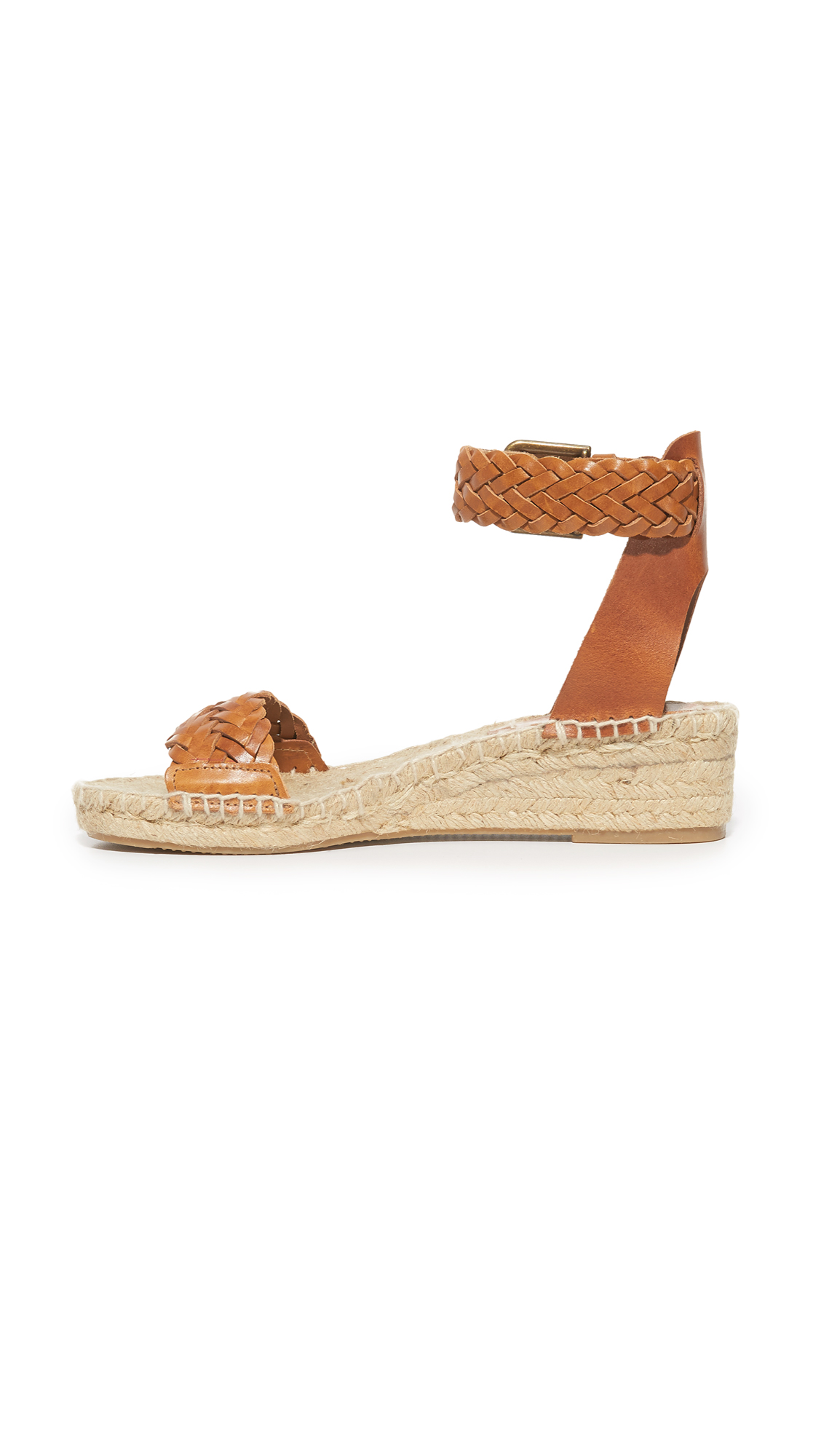 e98b5918d2a Soludos Woven Leather Demi Wedges