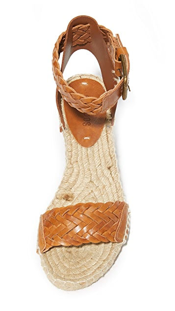 Soludos Woven Leather Demi Wedges