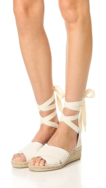 Soludos Crisscross Demi Wedge Sandals