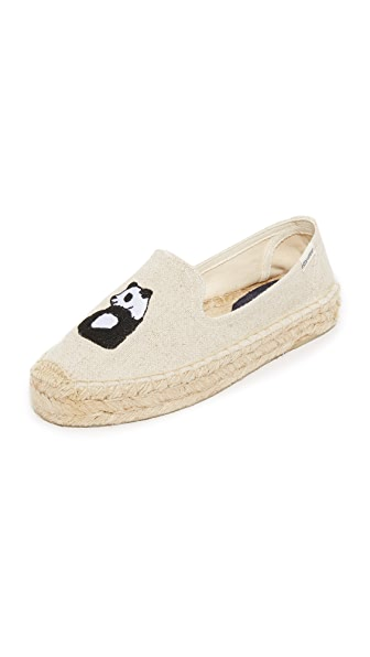 Soludos Panda Platform Smoking Slippers
