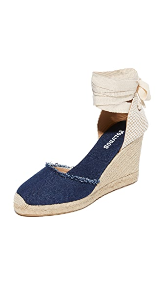 Soludos Tall Wedge Espadrilles - Dark Denim