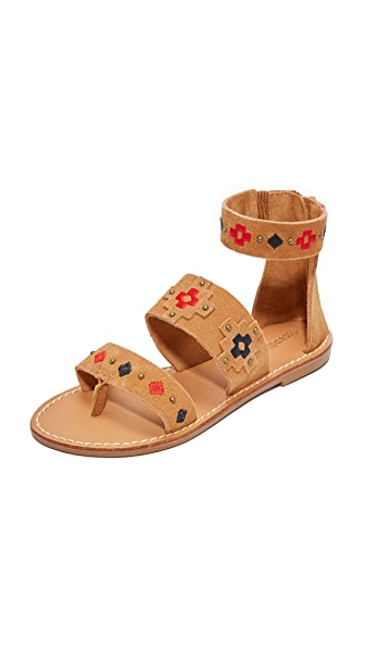Soludos Embroidered Sandals - Camel