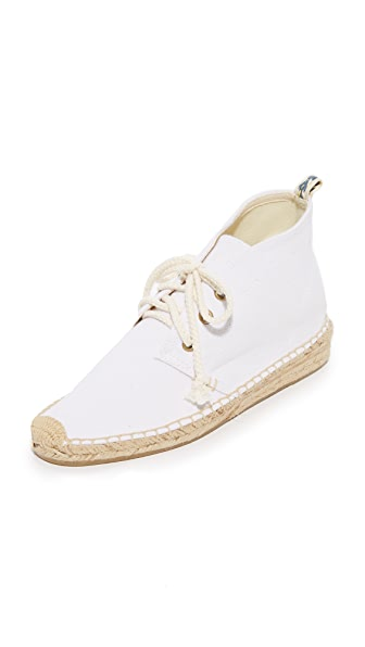 Soludos Demi Wedge Desert Booties - White