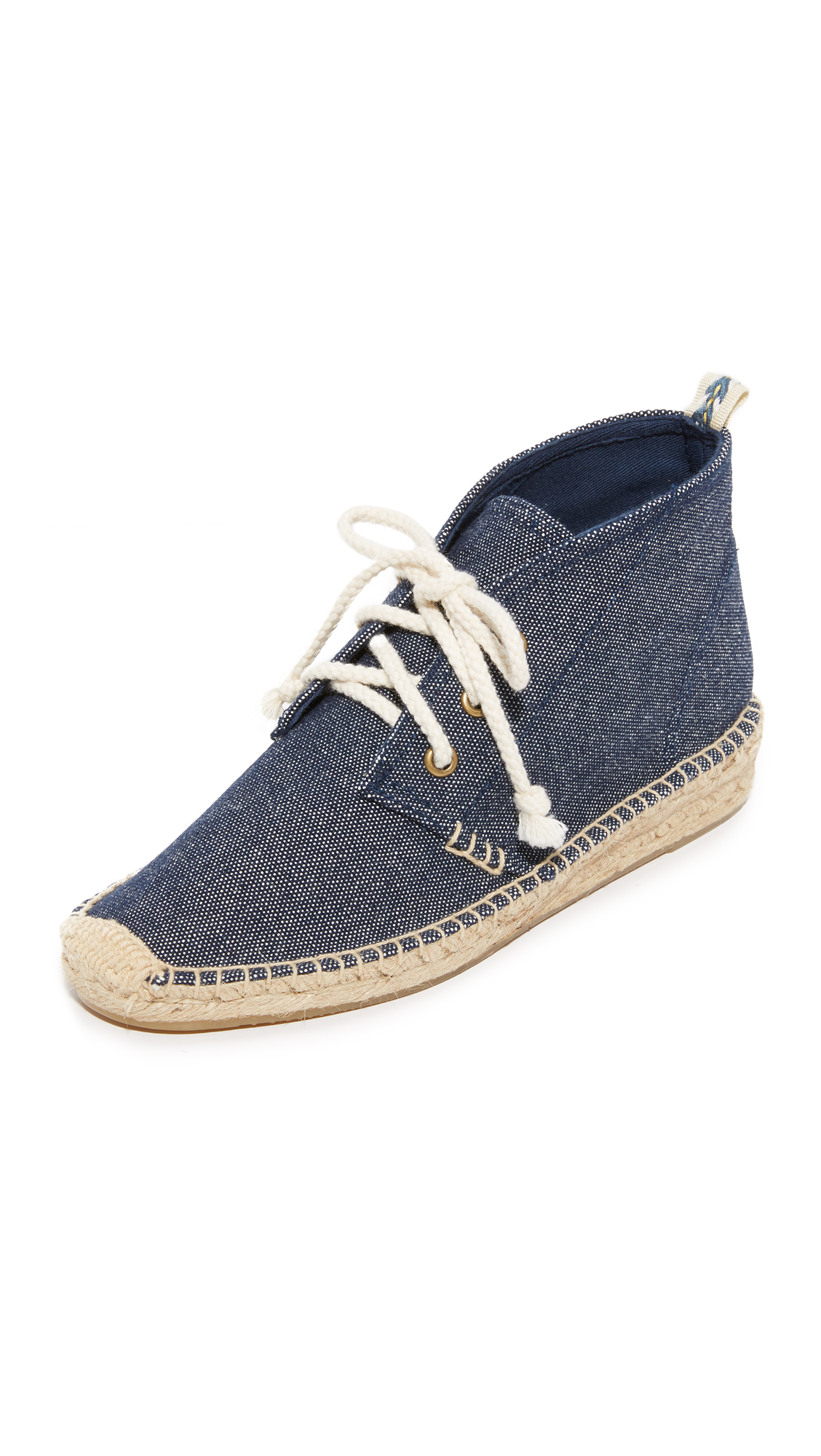 soludos female soludos demi wedge desert booties navy