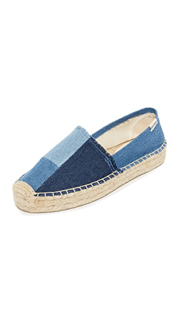 Soludos Patchwork Platform Smoking Slippers